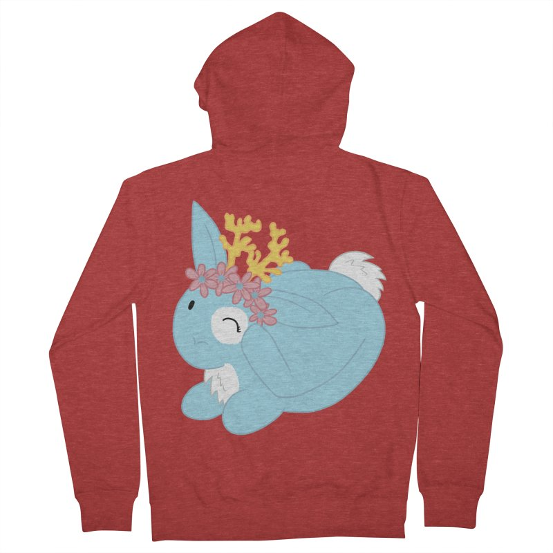Blue Spring Festival Jackalope Men's French Terry Zip-Up Hoody by Rachel Yelding | enchantedviolin