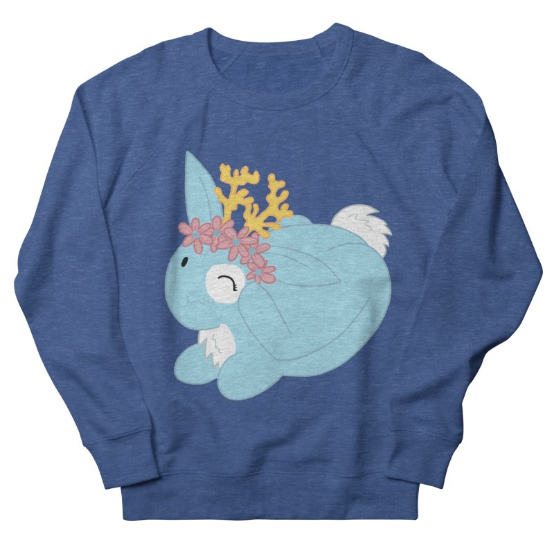 Blue Spring Festival Jackalope Women's French Terry Sweatshirt by Rachel Yelding | enchantedviolin