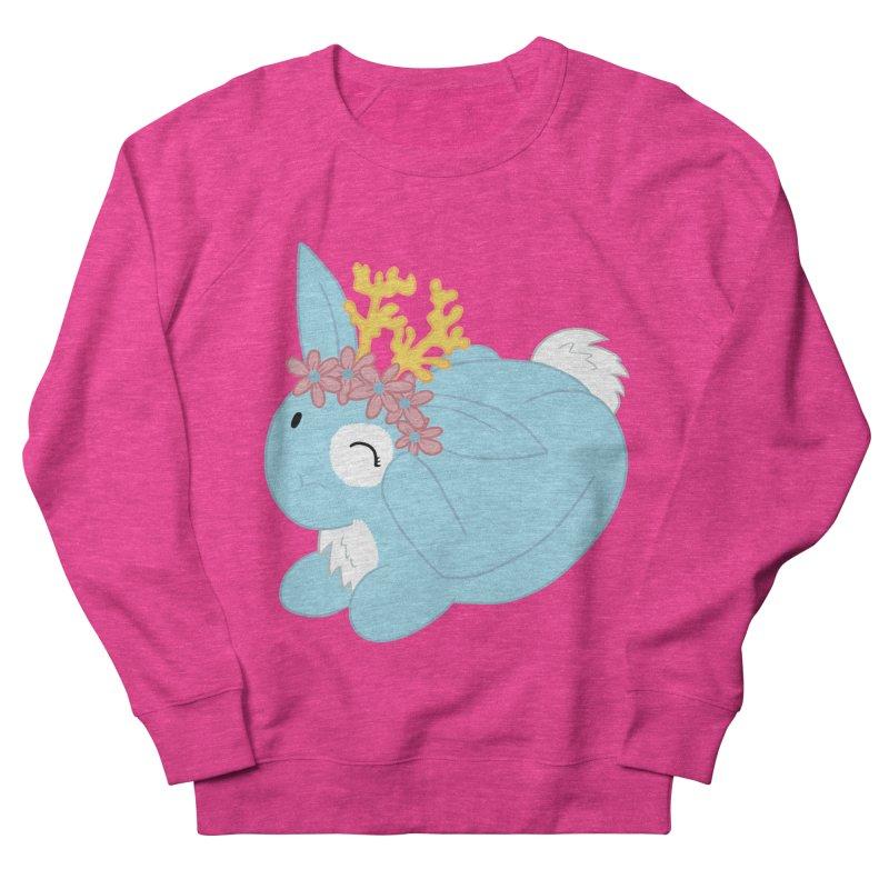 Blue Spring Festival Jackalope Women's French Terry Sweatshirt by Rachel Yelding | enchantedviolin