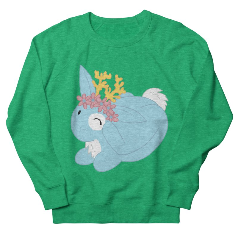 Blue Spring Festival Jackalope Men's French Terry Sweatshirt by Rachel Yelding | enchantedviolin