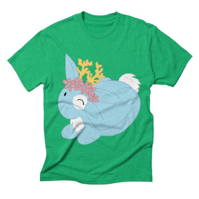 Blue Spring Festival Jackalope Men's Triblend T-Shirt by Rachel Yelding   enchantedviolin
