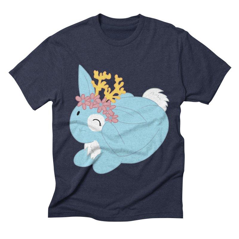 Blue Spring Festival Jackalope Men's Triblend T-Shirt by Rachel Yelding | enchantedviolin