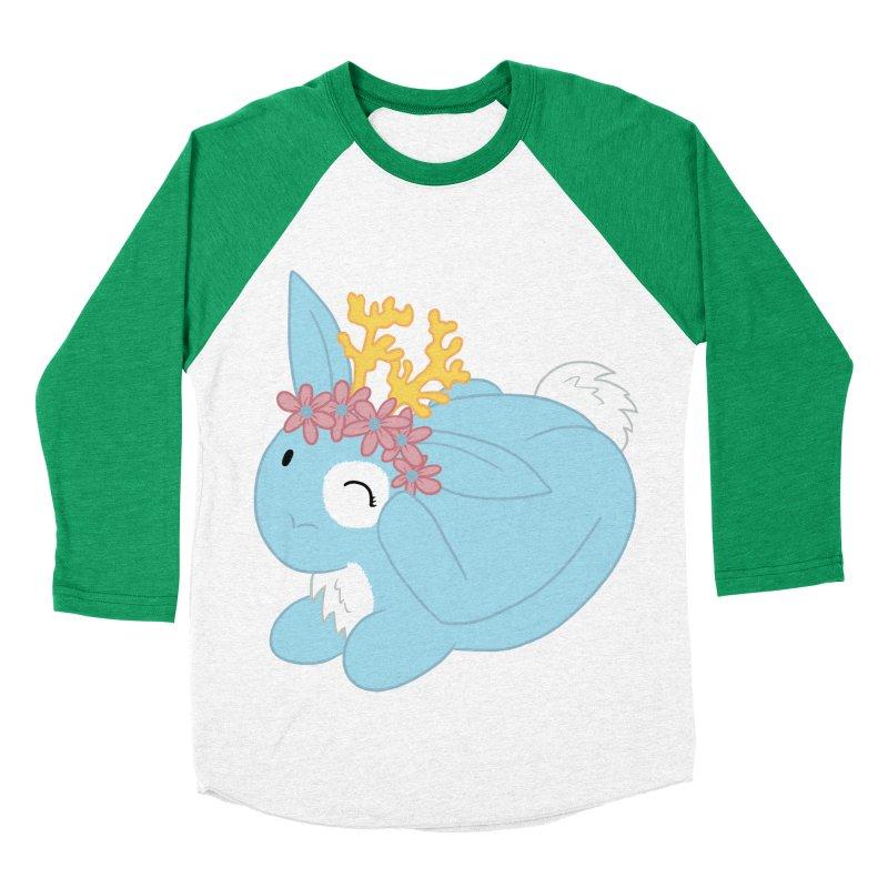Blue Spring Festival Jackalope Women's Baseball Triblend Longsleeve T-Shirt by Rachel Yelding   enchantedviolin