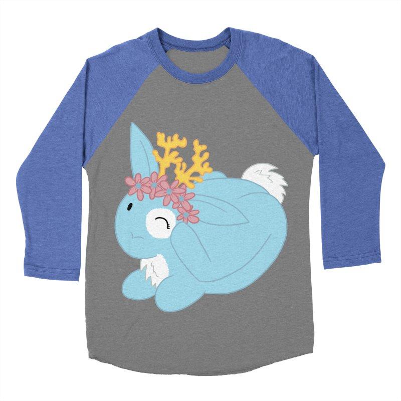 Blue Spring Festival Jackalope Women's Baseball Triblend Longsleeve T-Shirt by Rachel Yelding | enchantedviolin