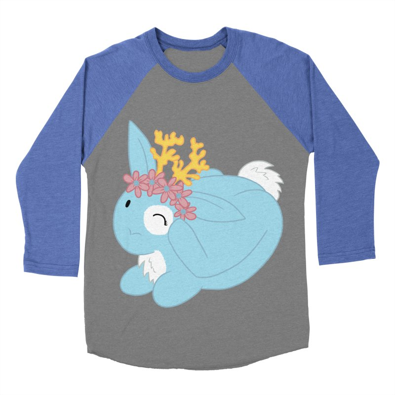 Blue Spring Festival Jackalope Men's Baseball Triblend Longsleeve T-Shirt by Rachel Yelding | enchantedviolin