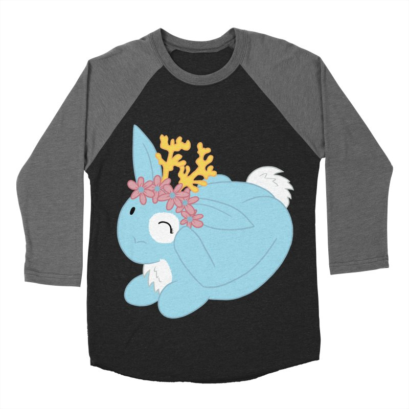 Blue Spring Festival Jackalope Men's Baseball Triblend T-Shirt by Rachel Yelding | enchantedviolin