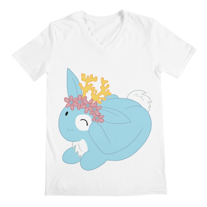 Blue Spring Festival Jackalope Men's Regular V-Neck by Rachel Yelding | enchantedviolin