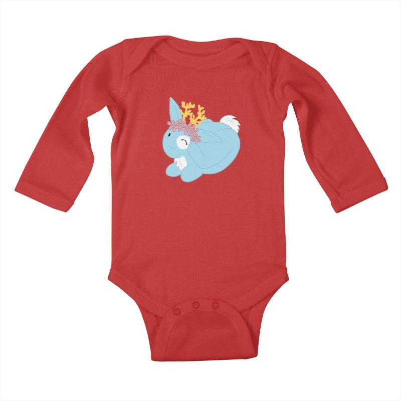 Blue Spring Festival Jackalope Kids Baby Longsleeve Bodysuit by Rachel Yelding   enchantedviolin