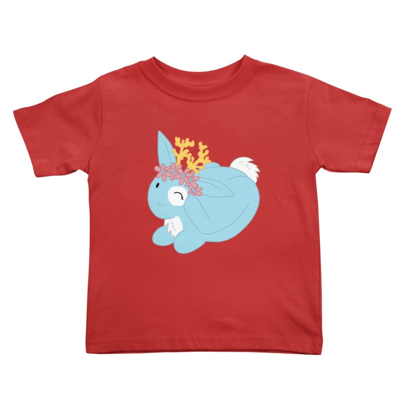 Blue Spring Festival Jackalope Kids Toddler T-Shirt by Rachel Yelding | enchantedviolin