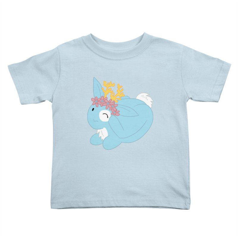 Blue Spring Festival Jackalope Kids Toddler T-Shirt by Rachel Yelding   enchantedviolin