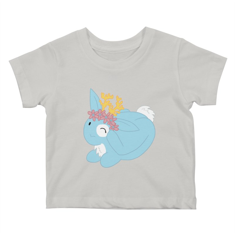 Blue Spring Festival Jackalope Kids Baby T-Shirt by Rachel Yelding   enchantedviolin