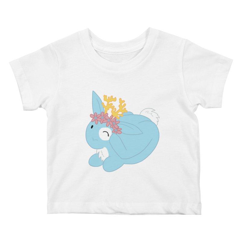Blue Spring Festival Jackalope Kids Baby T-Shirt by Rachel Yelding | enchantedviolin