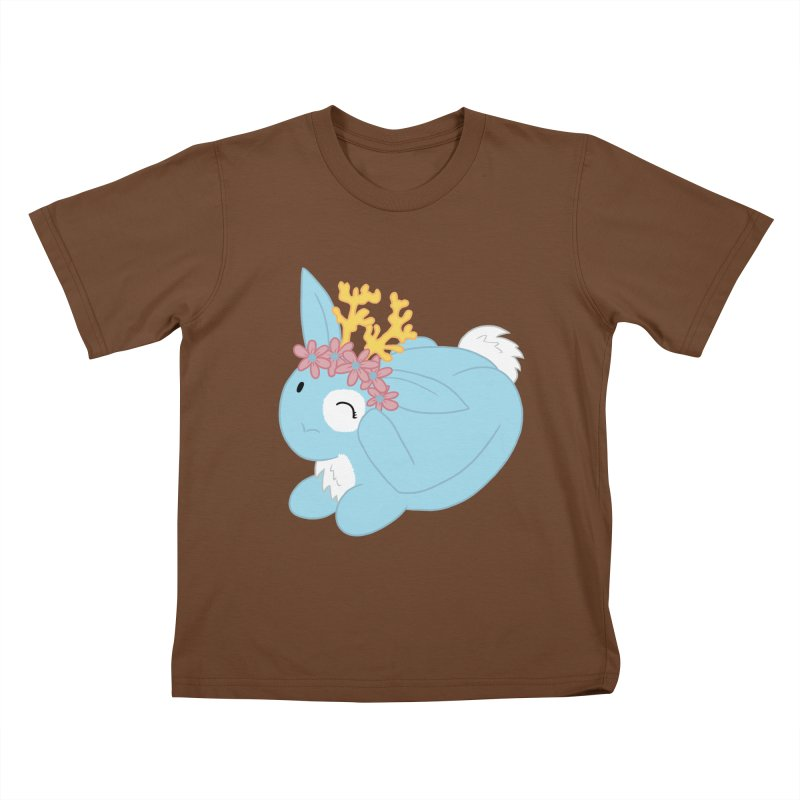 Blue Spring Festival Jackalope Kids T-Shirt by Rachel Yelding | enchantedviolin
