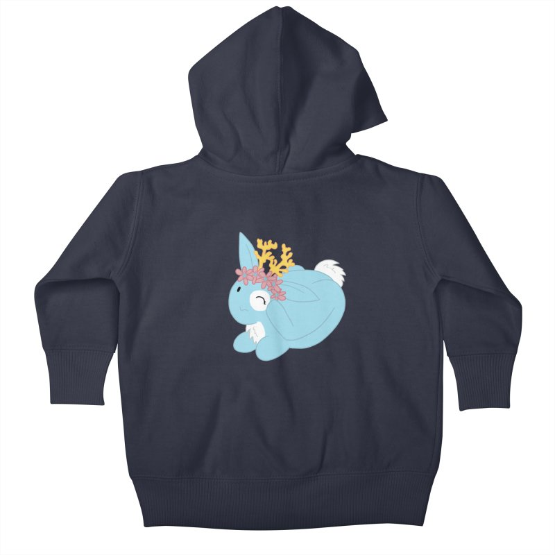 Blue Spring Festival Jackalope Kids Baby Zip-Up Hoody by Rachel Yelding | enchantedviolin