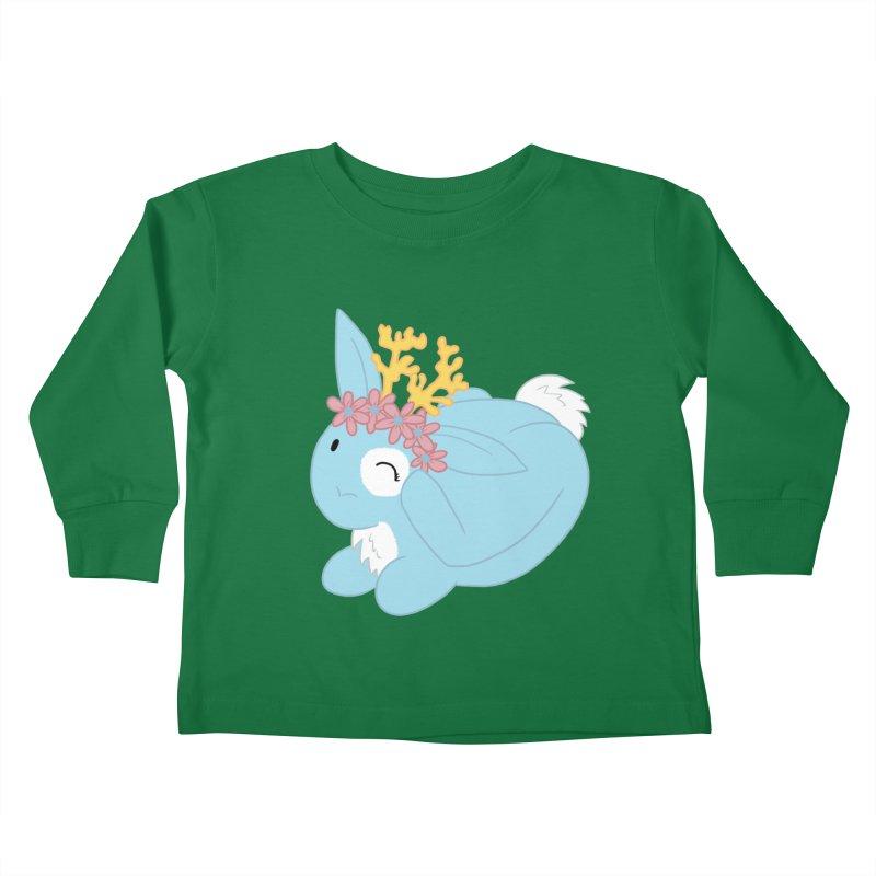 Blue Spring Festival Jackalope Kids Toddler Longsleeve T-Shirt by Rachel Yelding | enchantedviolin