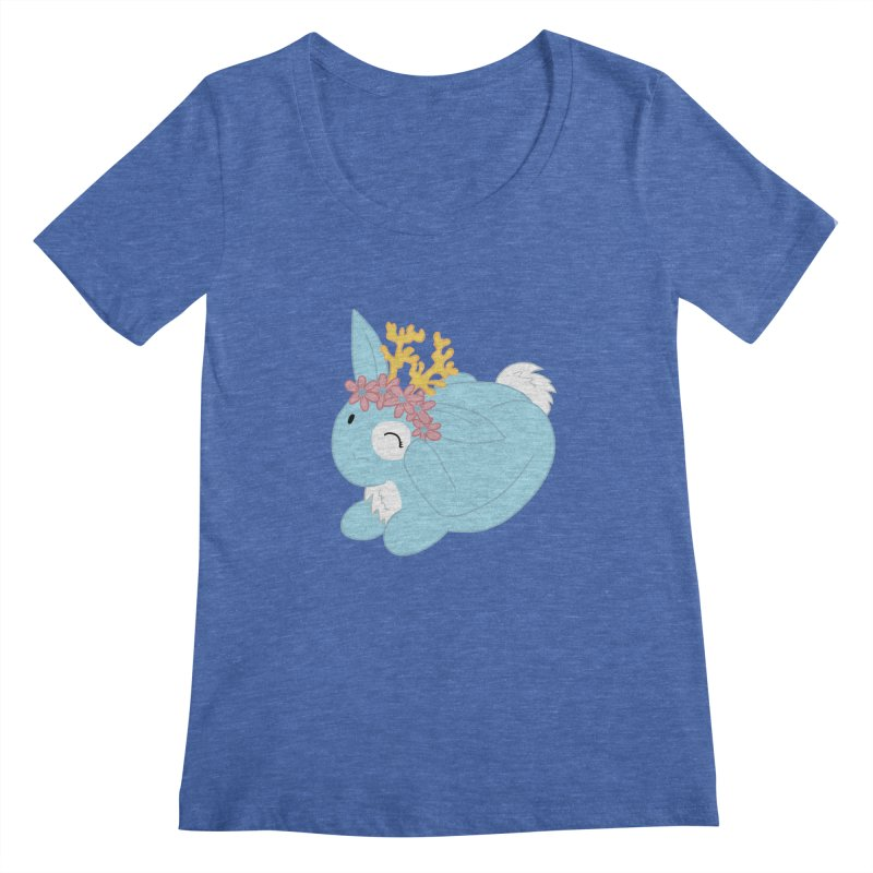 Blue Spring Festival Jackalope Women's Regular Scoop Neck by Rachel Yelding | enchantedviolin