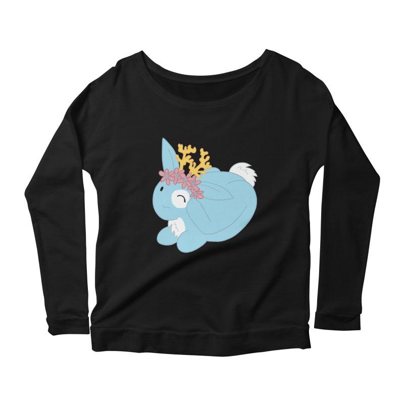 Blue Spring Festival Jackalope Women's Scoop Neck Longsleeve T-Shirt by Rachel Yelding   enchantedviolin