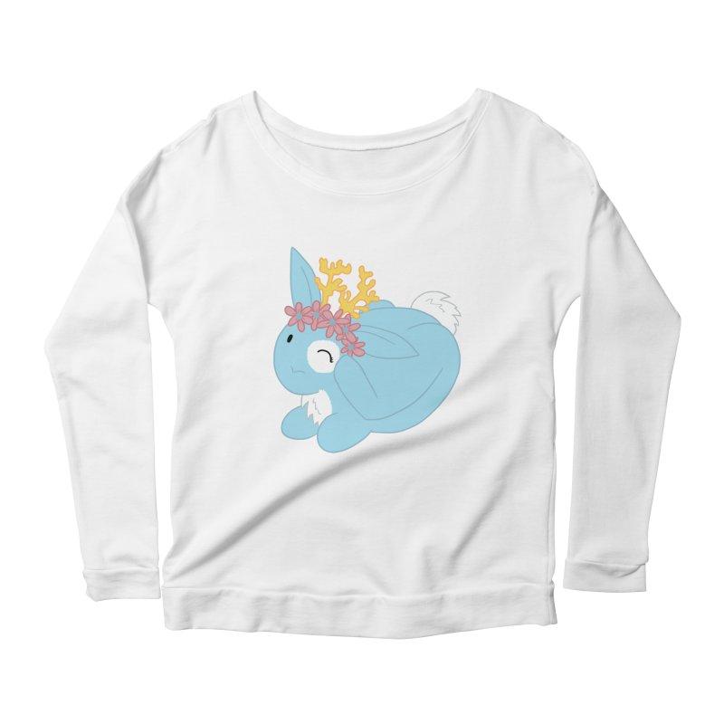 Blue Spring Festival Jackalope Women's Scoop Neck Longsleeve T-Shirt by Rachel Yelding | enchantedviolin