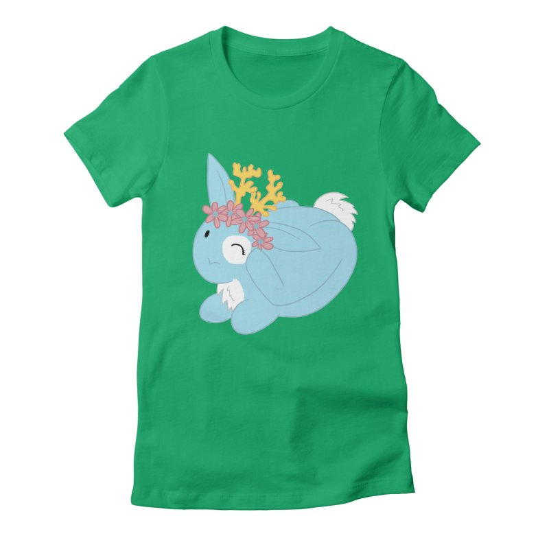 Blue Spring Festival Jackalope Women's Fitted T-Shirt by Rachel Yelding | enchantedviolin