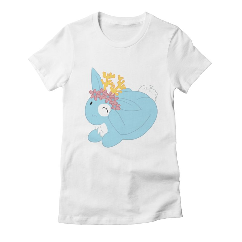 Blue Spring Festival Jackalope Women's Fitted T-Shirt by Rachel Yelding | enchantedviolin