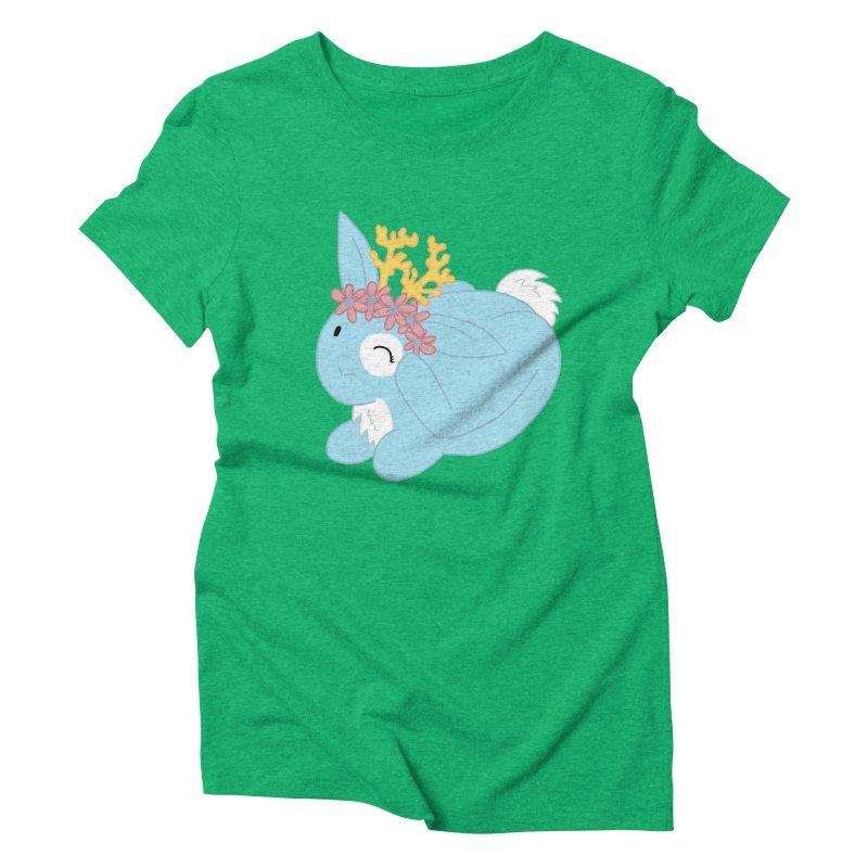 Blue Spring Festival Jackalope Women's Triblend T-Shirt by Rachel Yelding | enchantedviolin