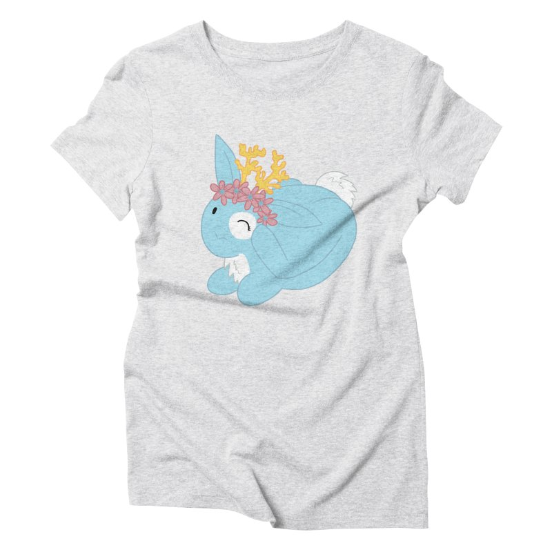 Blue Spring Festival Jackalope Women's Triblend T-Shirt by Rachel Yelding | enchantedviolin