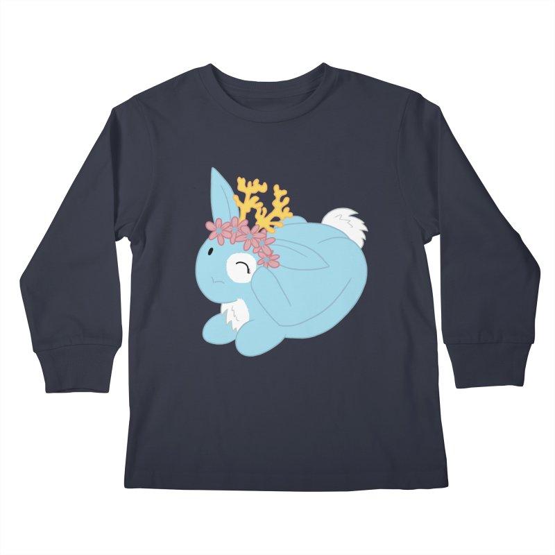 Blue Spring Festival Jackalope Kids Longsleeve T-Shirt by Rachel Yelding | enchantedviolin