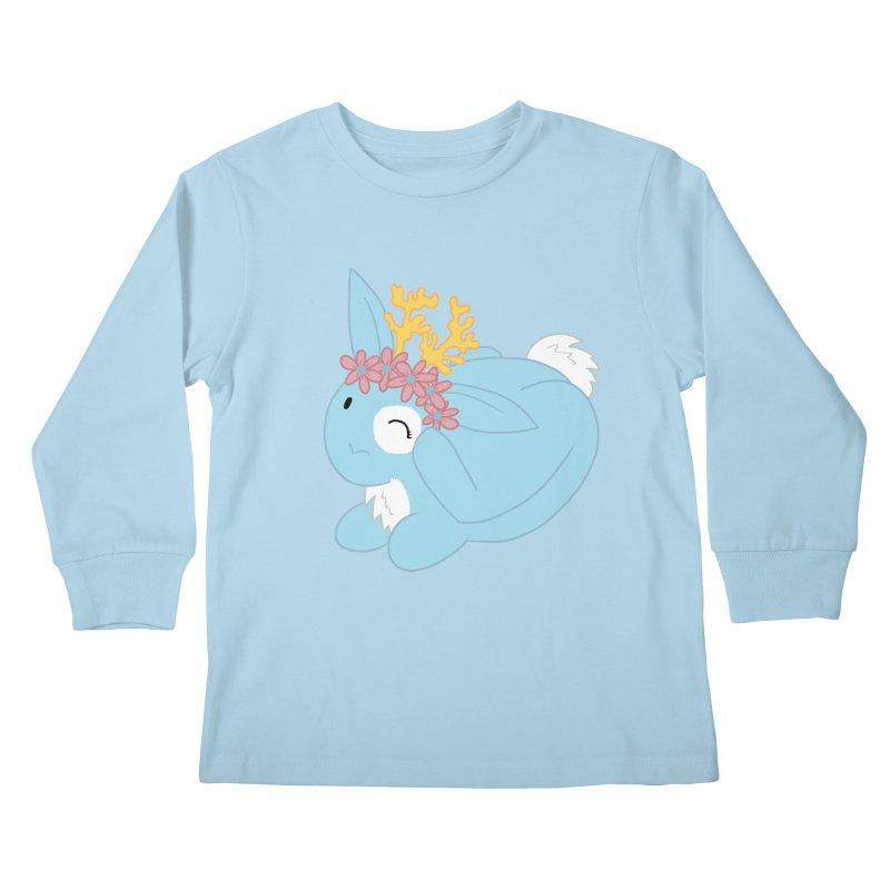 Blue Spring Festival Jackalope Kids Longsleeve T-Shirt by Rachel Yelding   enchantedviolin