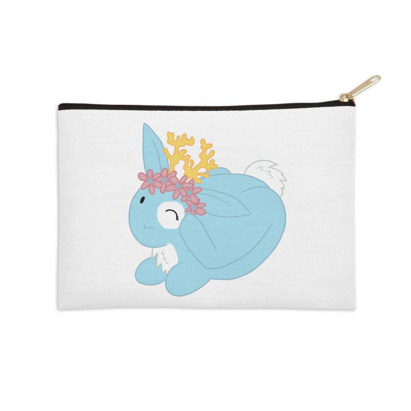 Blue Spring Festival Jackalope Accessories Zip Pouch by Rachel Yelding | enchantedviolin