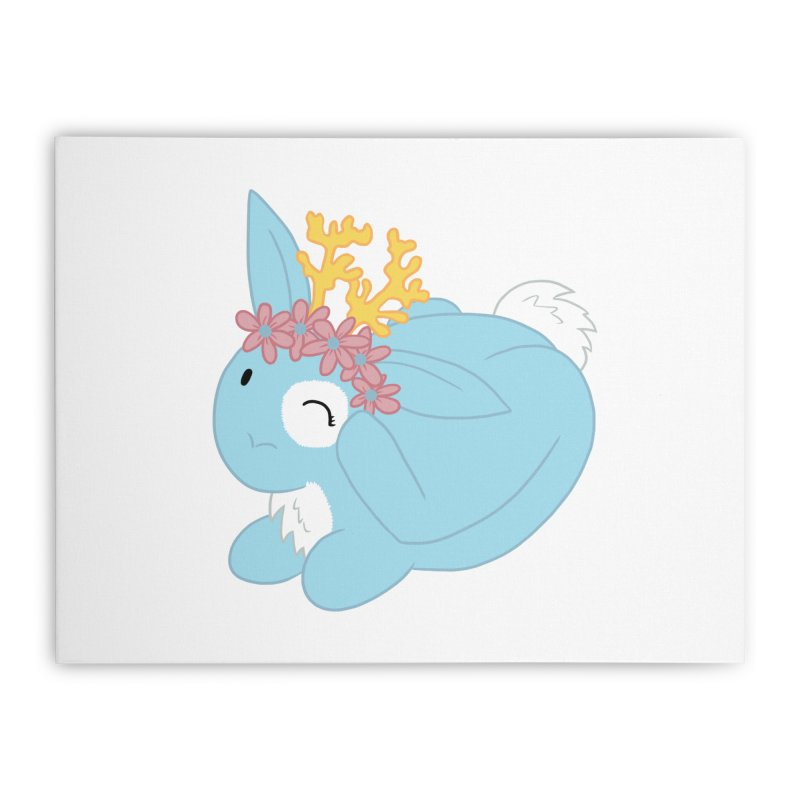 Blue Spring Festival Jackalope Home Stretched Canvas by Rachel Yelding | enchantedviolin