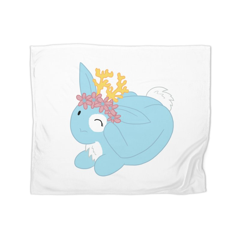 Blue Spring Festival Jackalope Home Fleece Blanket Blanket by Rachel Yelding | enchantedviolin