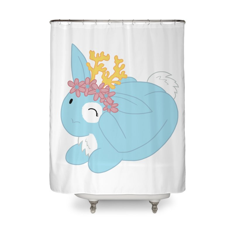 Blue Spring Festival Jackalope Home Shower Curtain by Rachel Yelding | enchantedviolin