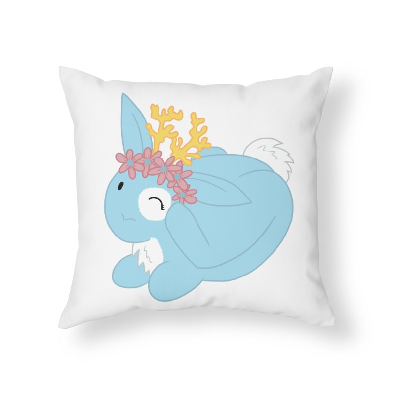Blue Spring Festival Jackalope Home Throw Pillow by Rachel Yelding   enchantedviolin