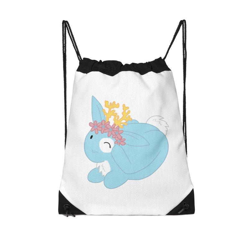 Blue Spring Festival Jackalope Accessories Drawstring Bag Bag by Rachel Yelding | enchantedviolin