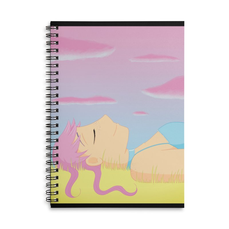 Companions - Relaxed Plum Accessories Lined Spiral Notebook by Rachel Yelding | enchantedviolin