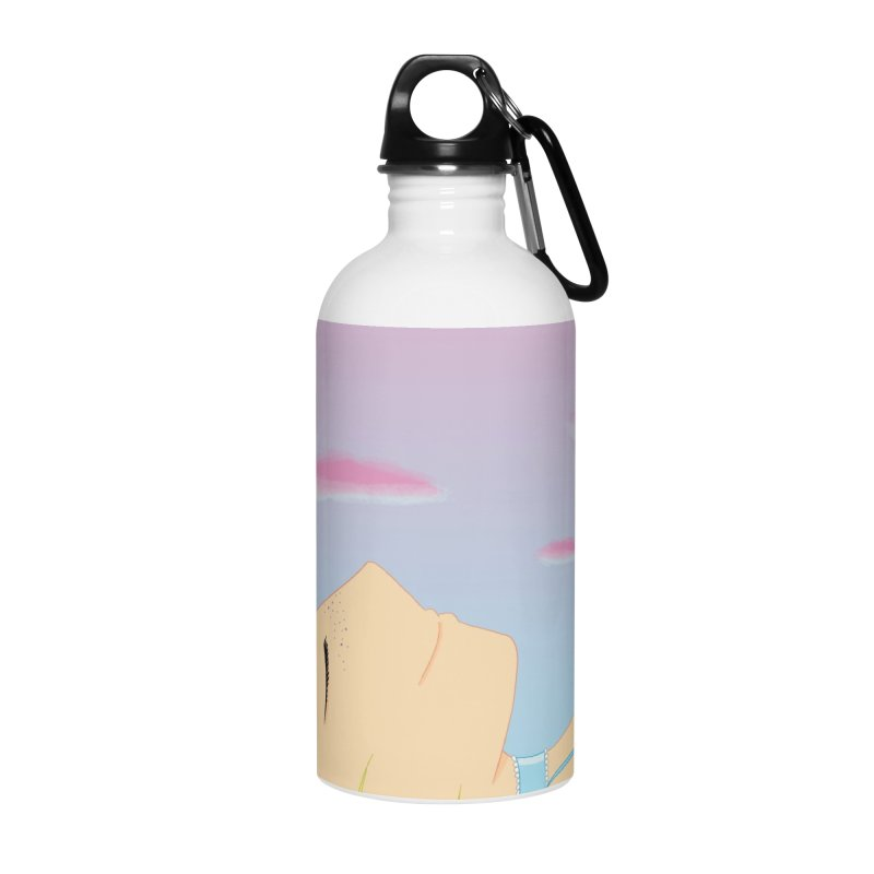 Companions - Relaxed Plum Accessories Water Bottle by Rachel Yelding | enchantedviolin