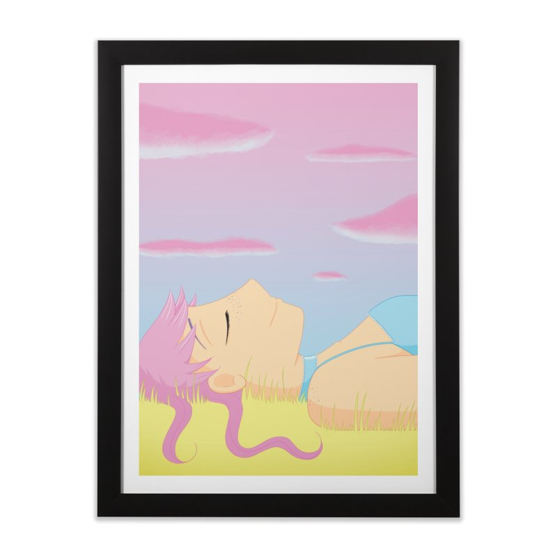Companions - Relaxed Plum Home Framed Fine Art Print by Rachel Yelding | enchantedviolin