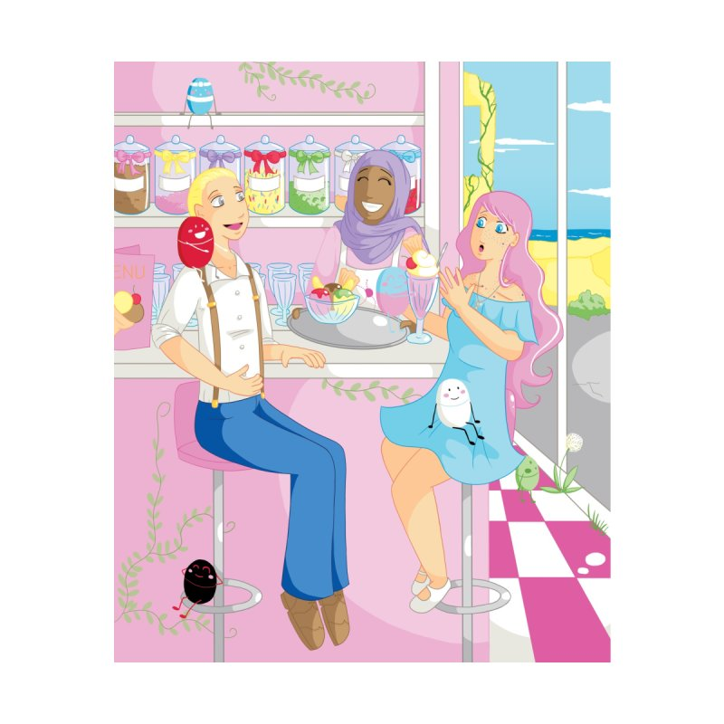 Companions - Ice Cream Parlour Home Framed Fine Art Print by Rachel Yelding | enchantedviolin