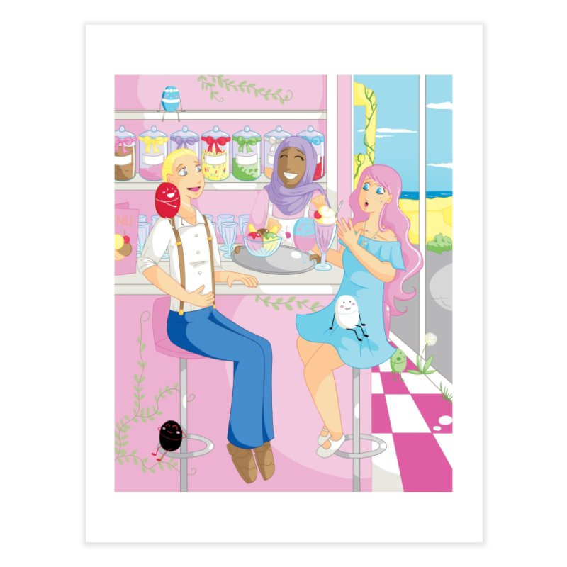 Companions - Ice Cream Parlour Home Fine Art Print by Rachel Yelding | enchantedviolin