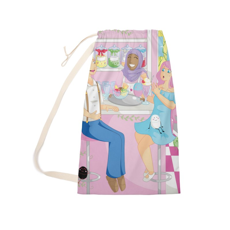 Companions - Ice Cream Parlour Accessories Laundry Bag Bag by Rachel Yelding | enchantedviolin