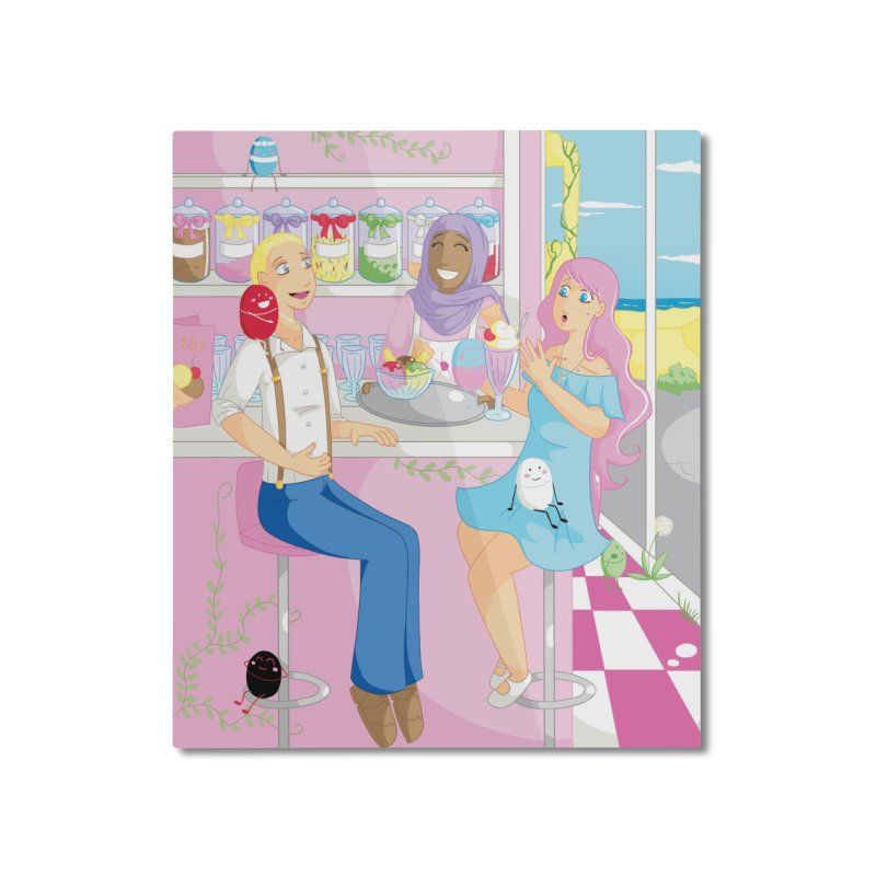 Companions - Ice Cream Parlour Home Mounted Aluminum Print by Rachel Yelding | enchantedviolin