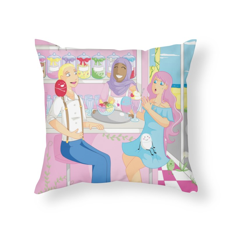 Companions - Ice Cream Parlour Home Throw Pillow by Rachel Yelding | enchantedviolin
