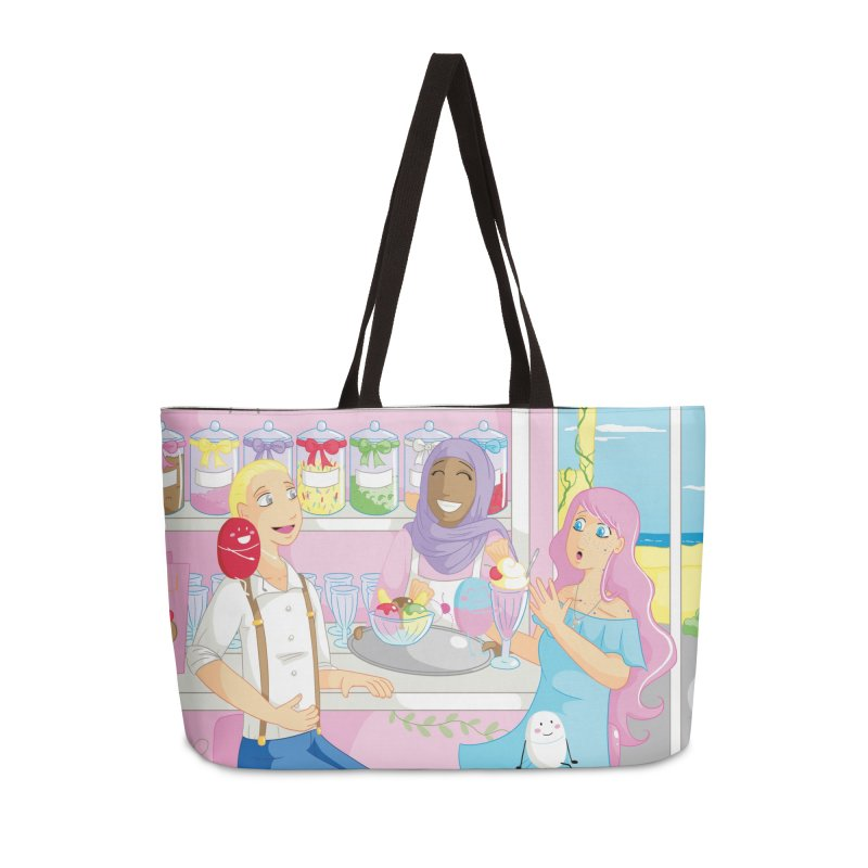 Companions - Ice Cream Parlour Accessories Weekender Bag Bag by Rachel Yelding | enchantedviolin