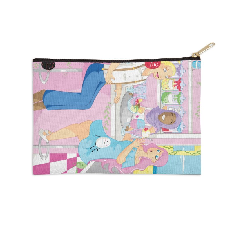 Companions - Ice Cream Parlour Accessories Zip Pouch by Rachel Yelding | enchantedviolin