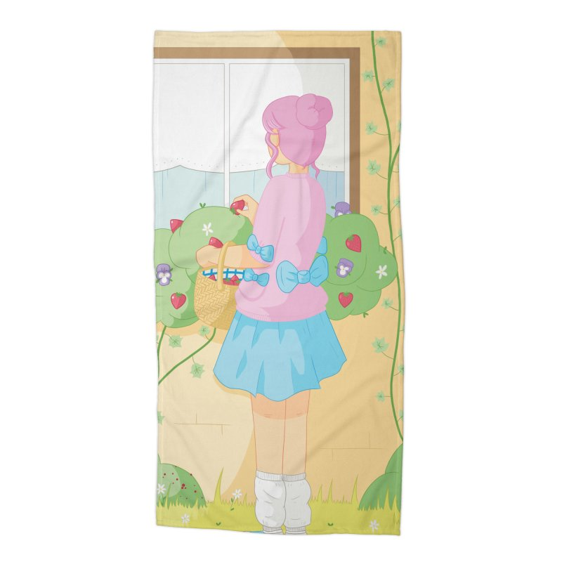 Companions - Strawberry Picking and Daisy Chain Making Accessories Beach Towel by Rachel Yelding   enchantedviolin