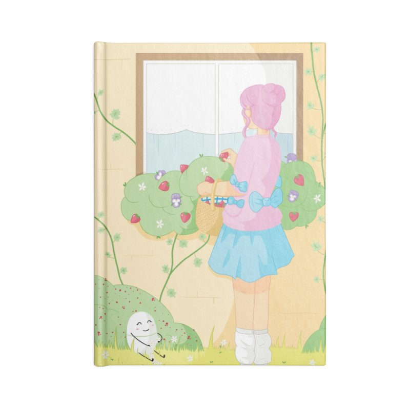 Companions - Strawberry Picking and Daisy Chain Making Accessories Lined Journal Notebook by Rachel Yelding | enchantedviolin