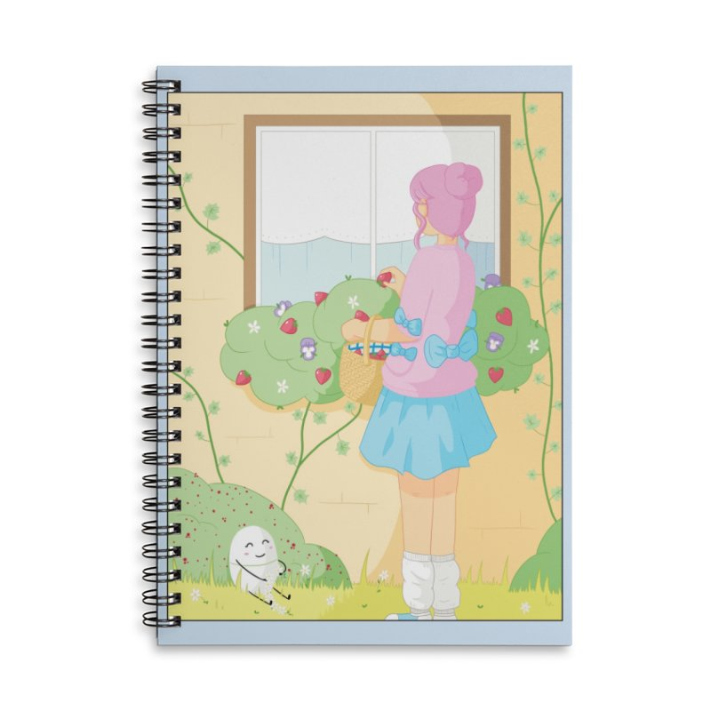 Companions - Strawberry Picking and Daisy Chain Making Accessories Lined Spiral Notebook by Rachel Yelding | enchantedviolin