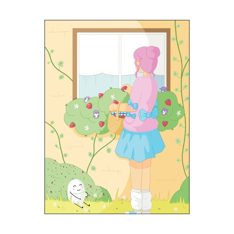 Companions - Strawberry Picking and Daisy Chain Making Home Fine Art Print by Rachel Yelding | enchantedviolin