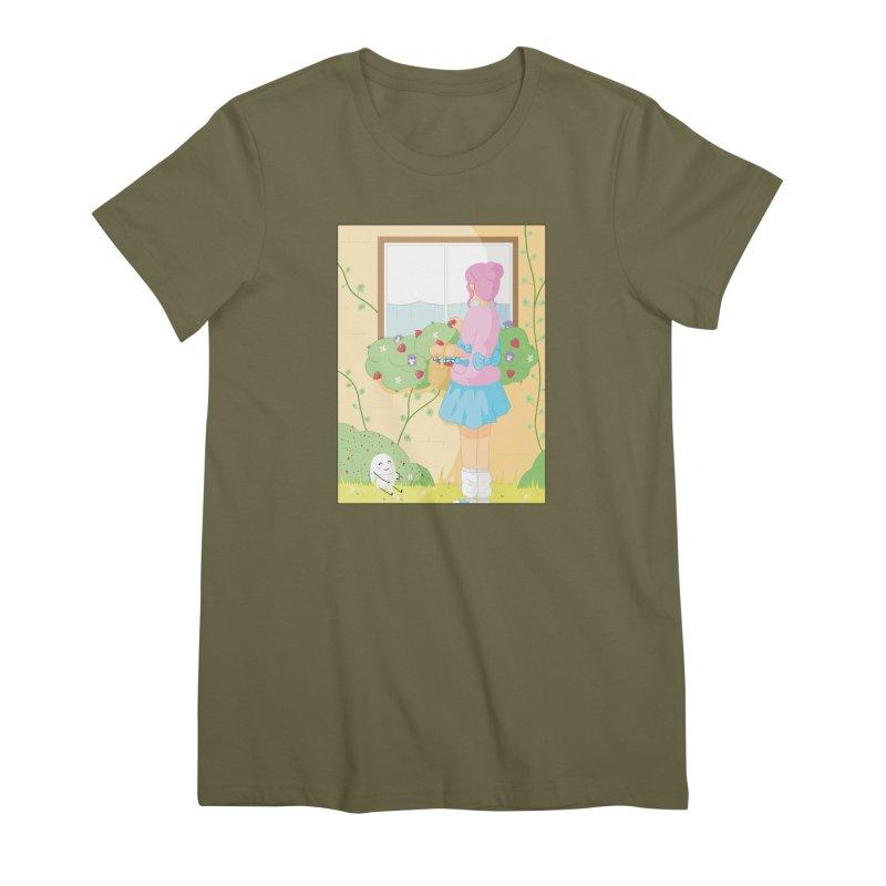 Companions - Strawberry Picking and Daisy Chain Making Women's Premium T-Shirt by Rachel Yelding   enchantedviolin