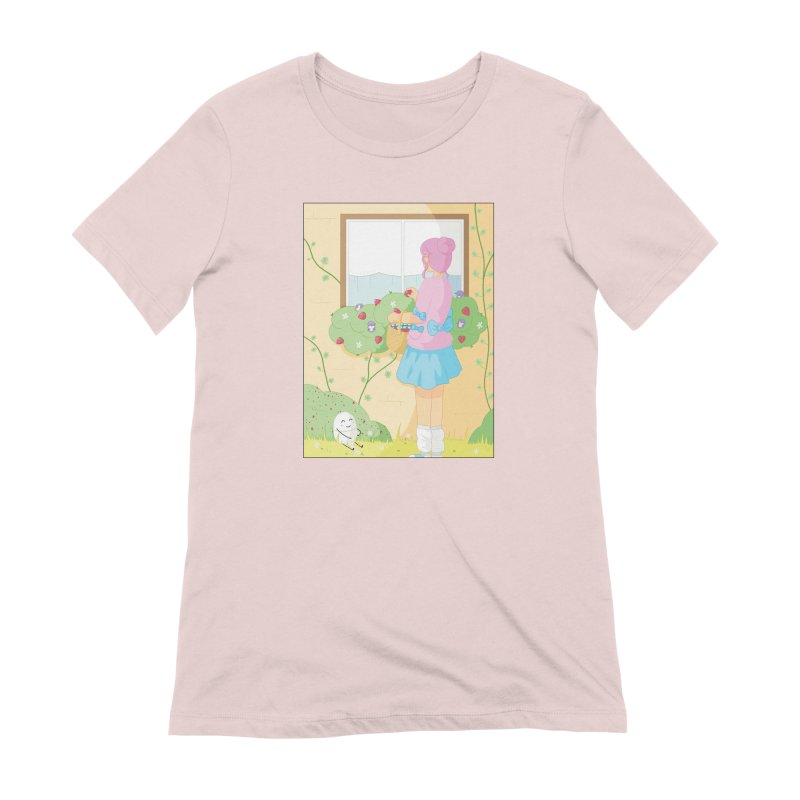 Companions - Strawberry Picking and Daisy Chain Making Women's Extra Soft T-Shirt by Rachel Yelding | enchantedviolin